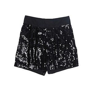 See by Chloe black sequin belted dressy shorts